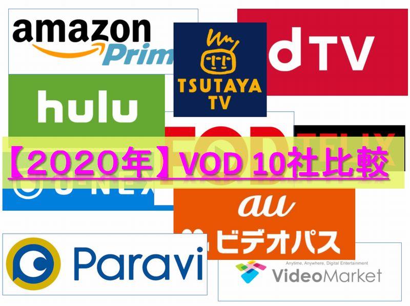 【2020年 最新】VOD(ビデオ・オン・デマンド)おすすめ10社比較
